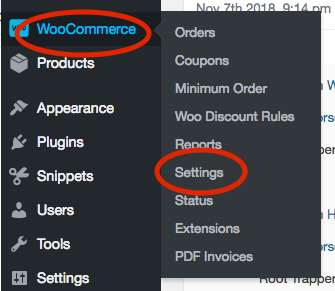 Go to WooCommerce => Settings.