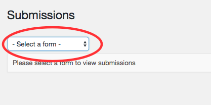 2. Select the form from the drop-down.