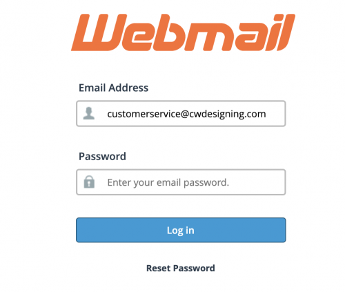 1. Login to Webmail and choose the Horde option, if not already your default webmail. (Click on the above image to login)