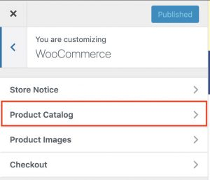 5. Click on Product Catalog