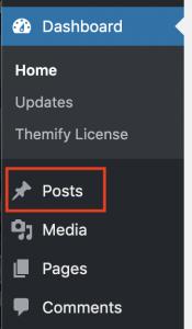 1. Click on Posts